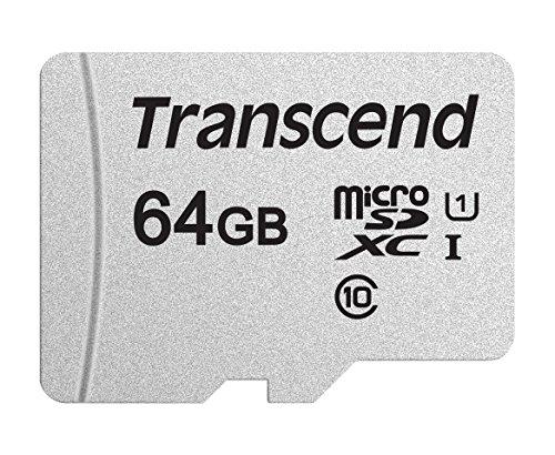 Transcend TS64GUSD300S 64GB UHS-I U1 MicroSD Memory - Microsd Card Applications Memory