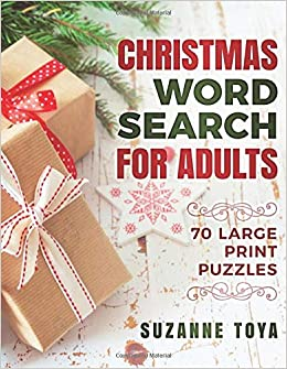 Christmas Word Search For Adults 70 Large Print Puzzles To