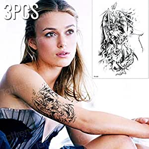 Handaxian 3pcs Tatuaje y Arte Corporal Dama guerrera Masculina con ...