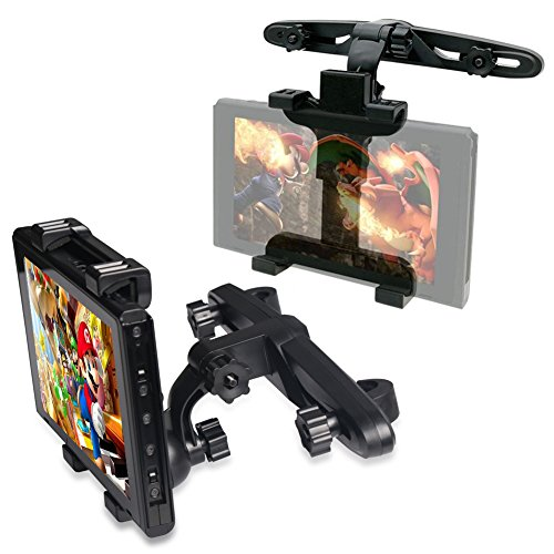 Universal Headrest Cradle Car Mount Holder with 180 Degrees Rotation for Nintendo