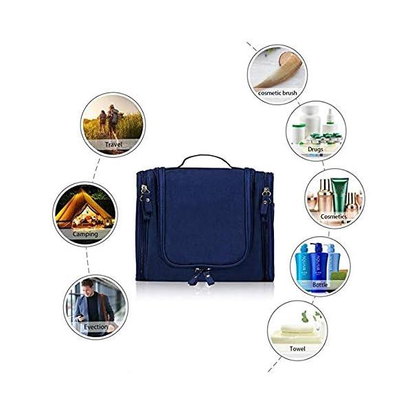 515rcj8e74L EAYIRA Fabric Toiletry Bag (Navy Blue_TSB-7_10)