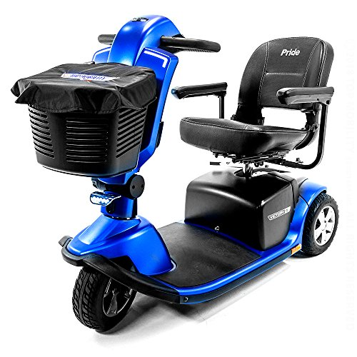 Pride Victory 10.2 Blue 3-Wheel Electric Scooter S6102 + Top Mobility Front Basket Bag ()