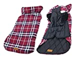 iToolai Dog Costumes Winter for Big Dogs Jackets Plaid Reversible Waterproof Vests Apparel(Red,3XL) Review