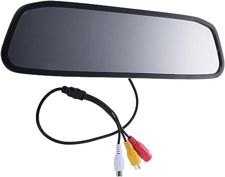 Sodial R Rueckfahr 4 3 Tft Farb Lcd Spiegel Monitor F Auto Rueckfahrkamera Auto