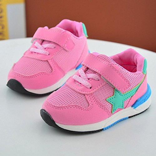 Baby schuhe, Sunnyoyo Nette 1-4 Jahre alt Kleinkind Kinder Baby Sport Laufschuhe Jungen Mädchen Kreative Sterne Mesh Schuhe Turnschuhe Rosa