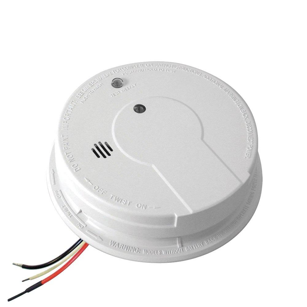 Kidde AC Hardwired Interconnect Smoke Alarm with Hush I12040