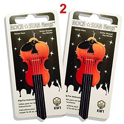Set of 2 Violin Shaped Rock Star KeysTM - Kwikset Schlage Yale Weiser