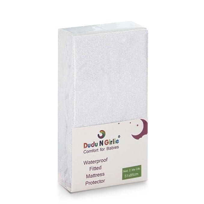 Dudu N Girlie Next2Me - Protector de colchón de rizo (100% algodón, impermeable, 51 cm x 85 cm): Amazon.es: Bebé