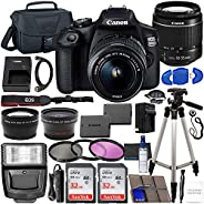 Canon EOS 2000D (Rebel T7) DSLR Camera with EF-S 18-55mm f/3.5-5.6 DC III Lens & Accessory Bundle – Includ