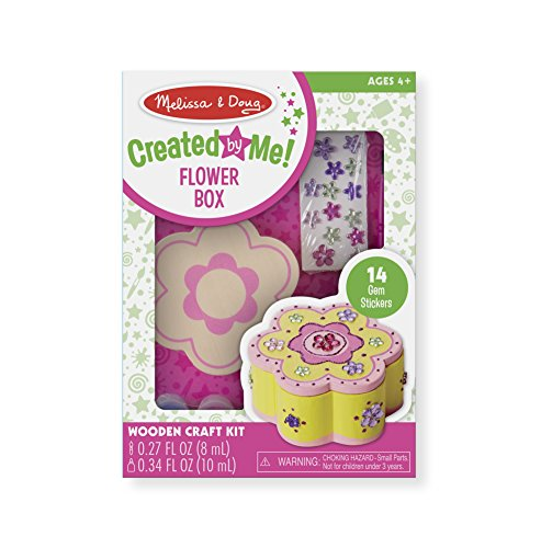 Melissa & Doug Decorate-Your-Own Wooden Flower Box Craft Kit