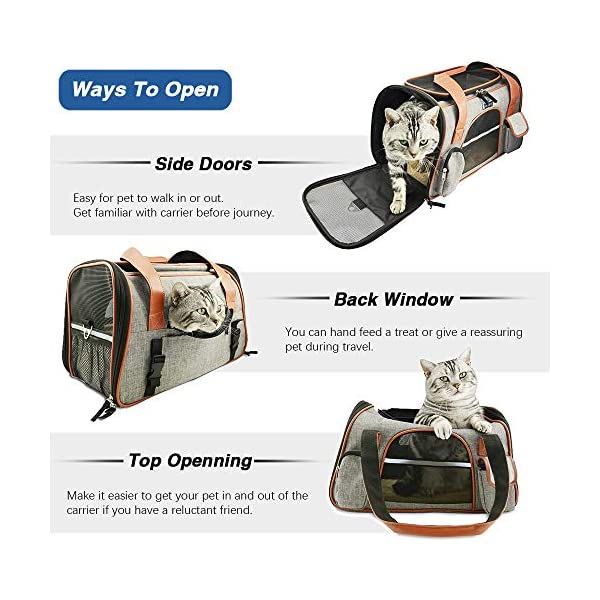 Premium-Pet-Carrier-Airline-Approved-Soft-Sided-for-Cats-and-Dogs-Portable-Cozy-Travel-Pet-Bag-Car-Seat-Safe-Carrier