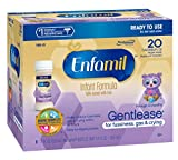 Enfamil Gentlease Infant Formula - Clinically Proven to reduce fussiness, gas, crying in 24 hours - Ready to Use Nursette Bottles, 2 fl oz (24 count)