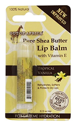 (Out Of Africa Pure Shea Butter Lip Balm Tropical Vanilla, 0.15 Ounce)