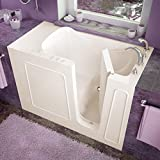 Spa World Venzi Vz2653rbs Rectangular Soaking Walk-In Bathtub, 26x53, Right Drain, Biscuit