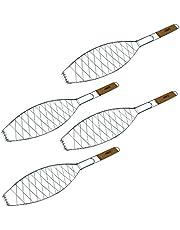 Para freír pescado | para pescado a la parrilla y espátula para pescado, soporte cesta | accesorios de barbacoa de ToCis Big BBQ