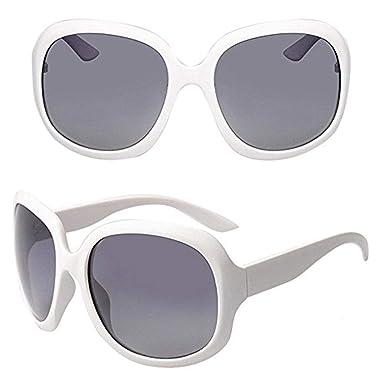 Amazon.com: anteojos de sol Clubmaster Blanco Retro Grande ...