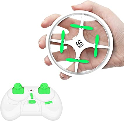 Mini Drones for Kids,RC Drone for Beginners with Neno Light,RC Helicopter Quadcopter with Altitude Hold,360/° Rotating,Shinning Led Lights,2 Batteries,Kids Gifts Toys for Boys Girls Blue