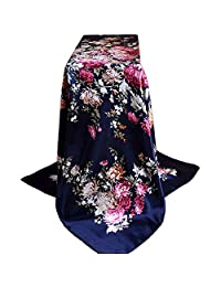 Allywit Women Ladies Fashion Printed Soft Silk Shawl Large Wraps Scarf Scarves
