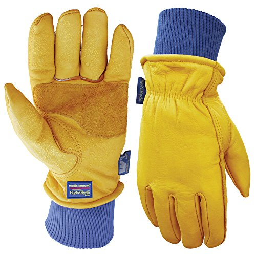 Leather Winter Work Gloves, Water Resistant, Very Warm 100-gram Thinsulate, Large (Wells Lamont (Winter Leather Work Gloves)