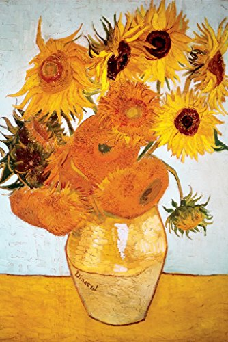 HUNTINGTON GRAPHICS Sunflowers 1888 by Vincent Van Gogh - Art Poster 24 x 36 inches