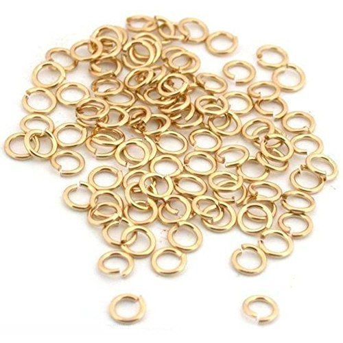 - 50 Jump Rings 14K Gold Filled Open Jewelry 22 Gauge 3mm