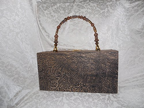 Cigarbox Purse, Tooled Western Leather, Tina Marie Purse, Vintage Cigar Box. Shoulder Strap is available for $10 in separate listing