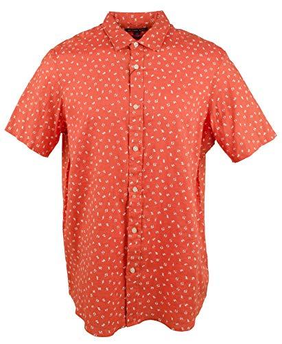 - Michael Kors Men's Linen Button Front Short Sleeve Shirt-S-XL