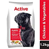 Active Chicken and Vegetable Puppy Dog Food, 1.2 kg