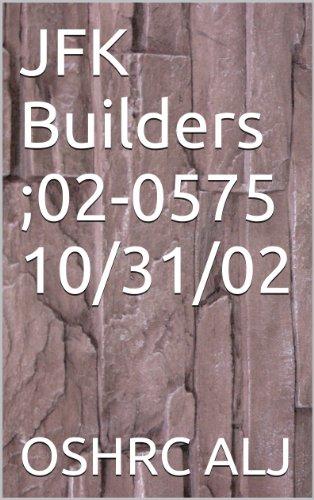 JFK Builders ;02-0575  10/31/02
