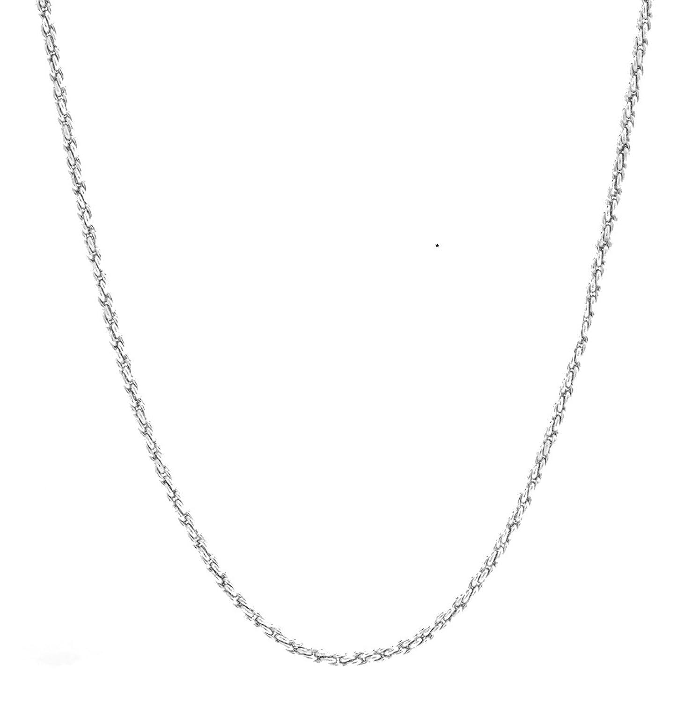 ホワイトゴールドチェーンネックレス1 mm 18 KtダイヤモンドロープチェーンA RealソリッドClasp保証of a Lifetime USA Made 。 B0751XCNJC