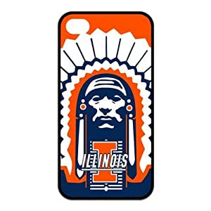 NCAA Illinois Fighting Illini Logo for Iphone4/4s Best Rubber Cover Case-Creative New Life