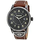 Timberland Men's 'COHASSET' Quartz Stainless Steel and Leather Casual Watch, Color:Brown (Model: TBL15250JSQ02)