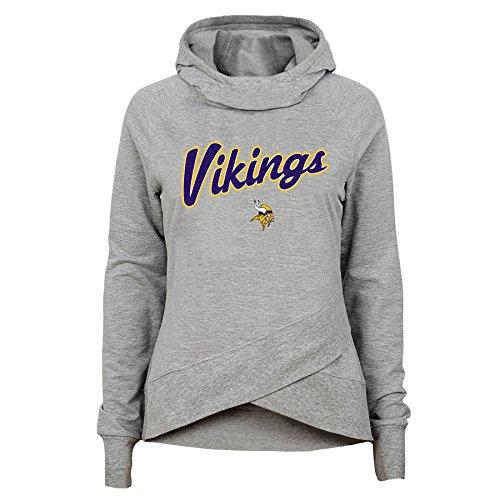 Minnesota Vikings Legends - NFL Minnesota Vikings Youth Girls Legend Girl Funnel Neck Hoodie, Heather Grey, Youth X-Large(16)