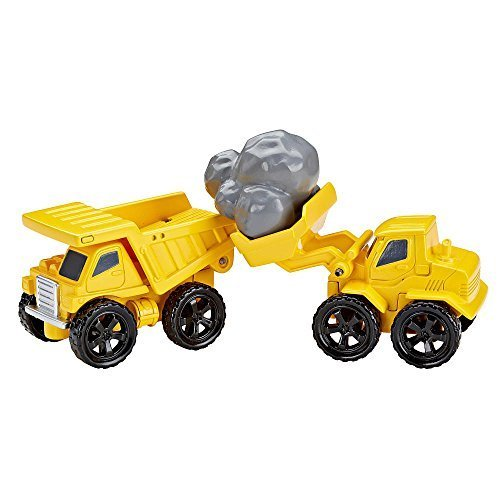 Fisher-Price EZ Play Railway Rock Quarry Vehicle Set (Dump Truck and Front (Fisher Price Train Sets)