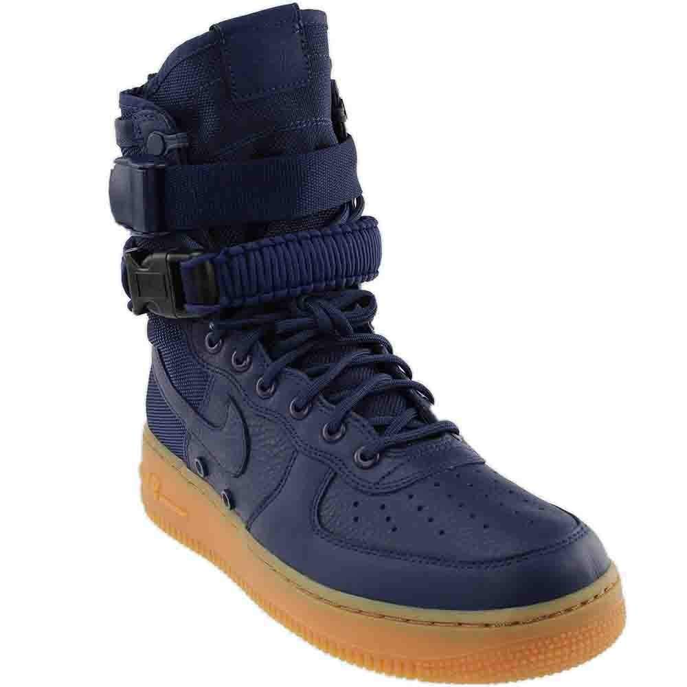 d6d5896a22 Galleon - Nike Mens SF Air Force 1 HIgh Shoes Midnight Navy/Black/Gum 864024-400  Size 9
