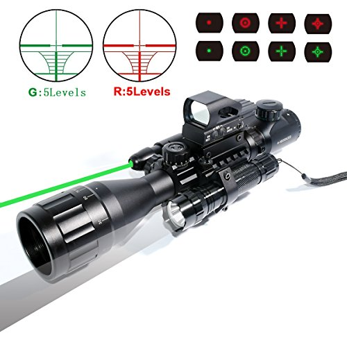 Tactical 4 16x50EG Illuminated Holographic Flashlight product image