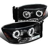Spec-D Tuning 2LHP-RAM06JM-TM Dodge Ram Led Halo Black Projector Head Lights