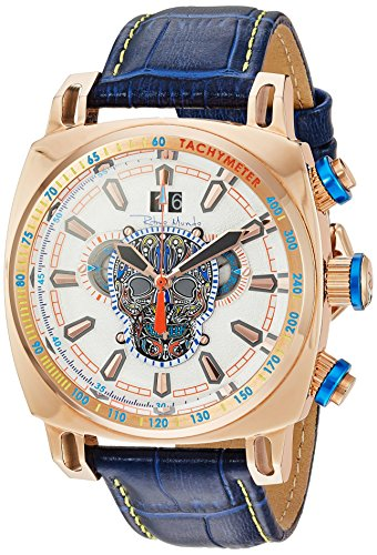 Ritmo Mundo Swiss Quartz Stainless Steel and Leather Casual Watch, Color:Blue (Model: 2221/18)