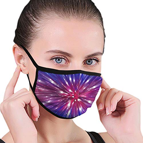 Funny Mouth Cover Dustproof Washable Reusable Abstract Pink Background. Explosion Star Unique Respirator Protective Safety Warm Windproof for Women Men