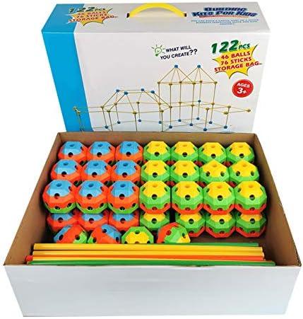 Fortenbouwset voor kinderen, DIY Fun Forten STEM-gebouw, speelgoed maken, kindertent, speelgoedbouwhuis, kastelen, tunnels, rakettoren voor jongens, meisjes, binnen en buiten