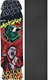 Lake Skateboards Nightmare Black/Red Skateboard Deck - 8.75'' x 32.5'' with Black Magic Griptape - Bundle of 2 items