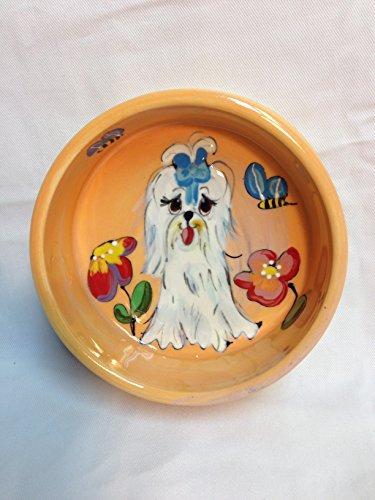 8 inch ceramic dog bowl set - 4