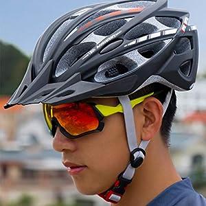 GYM Hoverboard Casque Couvre-Chef Sport 30 Vents Faire du Vélo Casques Ajustables Adultes Léger Hommes Femmes Femmes for Skateboard BMX VTT Mountain Road Sécurité À Vélo (Color : Silver)