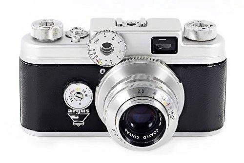ARGUS C-4 35mm Rangefinder camera with 50mm f/2.8 Coated Cintar Lens - Vintage 1950s