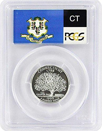 1999 Connecticut State S Silver Proof Quarter PR-69 PCGS