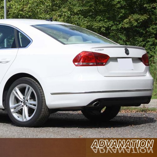 - 12-15 Volkswagen Passat Flush Mount Rear Trunk Spoiler Wing Lip Primer Unpainted