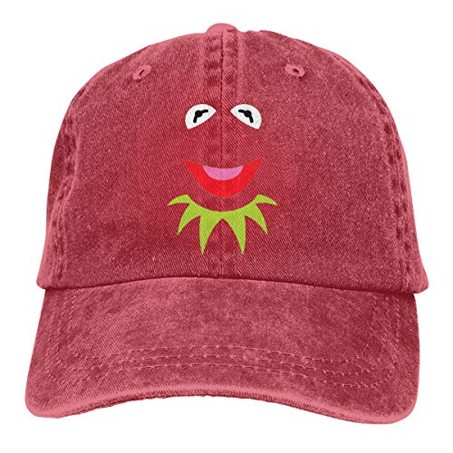Genwo182nimas Mens Women Unisex Baseball Green Puppet Frog Face Halloween Adult Cowboy Dicer Red