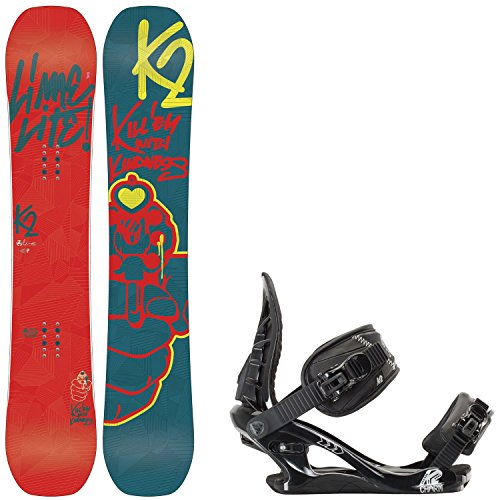 K2 Lime Lite 153 Womens Snowboard + K2 Charm Bindings Fits US Wms Boots Sizes: 6,7,8,9