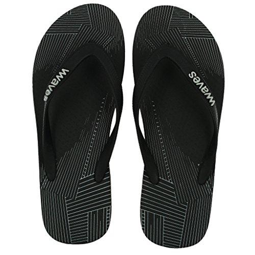 Bølger 100% Naturlig Gummi Flip Flops For Menn Regular Fit Sandaler Tøfler - Favoritter Samling Linje