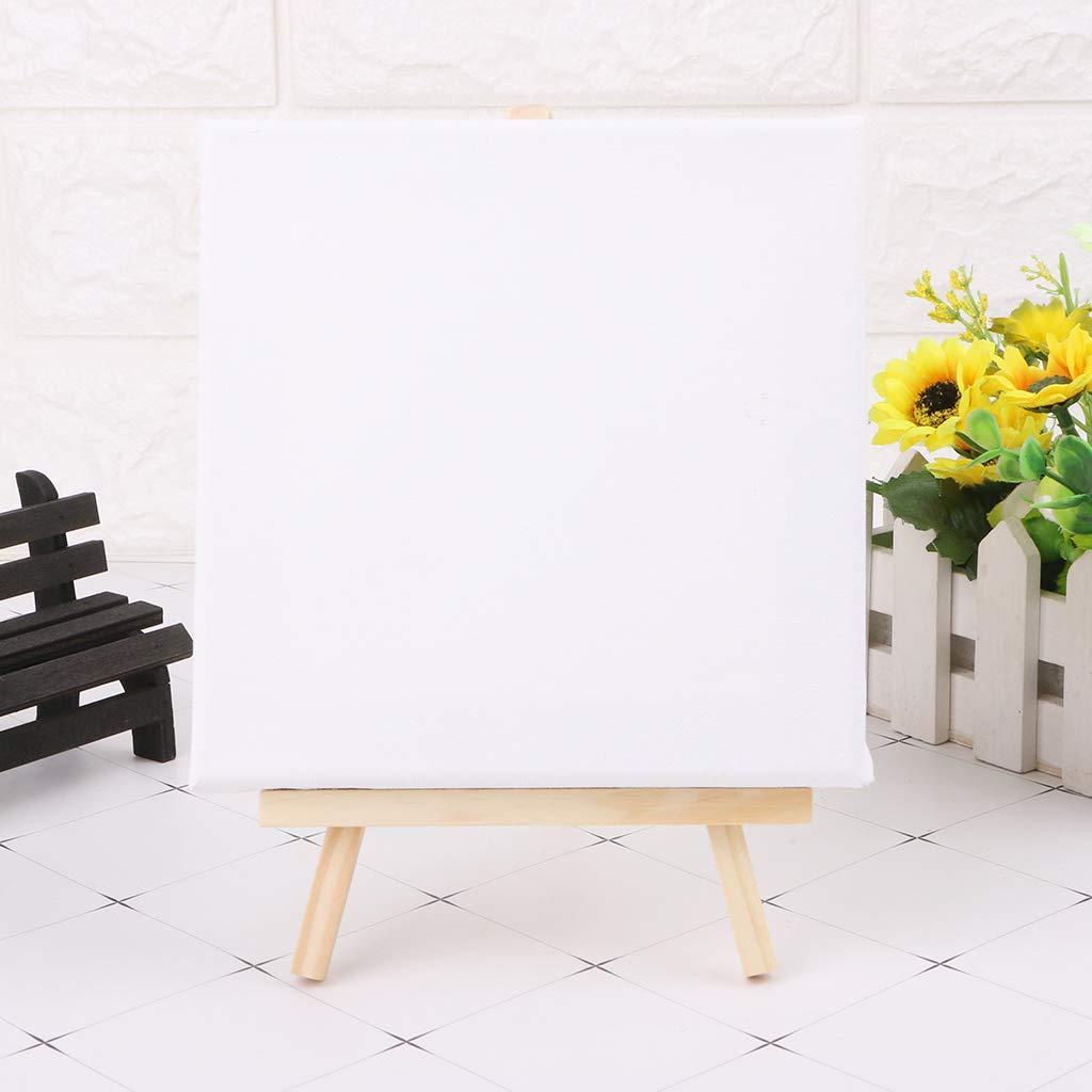 siwetg Mini Tela e Set di cavalletto in Legno Naturale per Arte Pittura Disegno Craft Wedding Supply 01